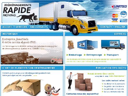 Déménagement Rapide Inc (1-800-463-5796) - Website thumbnail - http://www.demenagement.qc.ca