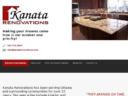 Kanata Renovations (613-715-3884) - Website thumbnail - http://www.kanatarenovations.com