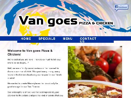 VanGoes Pizza & Chicken (204-257-4992) - Onglet de site Web - http://www.vangoespizza.ca