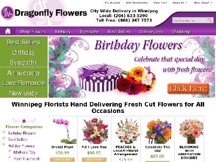 Dragonfly Flowers On McPhillips (204-633-5200) - Website thumbnail - http://www.dragonflyflowers.com