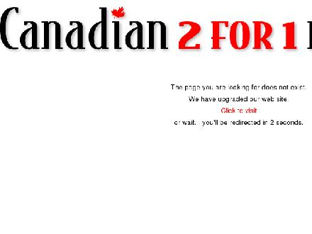 Canadian 2 For 1 Pizza (250-571-1525) - Onglet de site Web - http://www.canadian2for1pizza.com/locations/kamloopsN.html