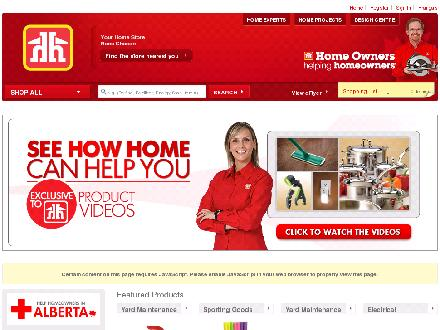 Brady Home Building Centre (902-354-3434) - Onglet de site Web - http://www.homehardware.ca