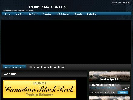Reliable Motors Ltd (902-566-4409) - Onglet de site Web - http://www.reliablemotors.ca