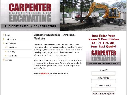 Carpenter Enterprises Ltd (204-799-6117) - Onglet de site Web - http://www.carpenterenterprises.ca