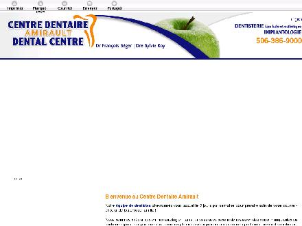 Amirault Dental Centre (506-386-9000) - Onglet de site Web - http://dentimplant.ca/