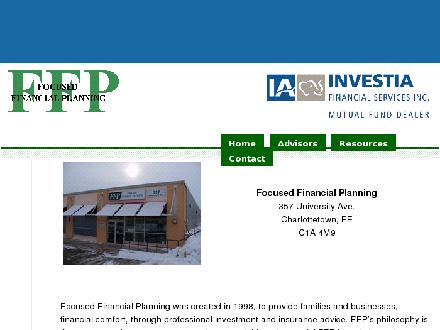 Focused Financial (902-892-9186) - Onglet de site Web - http://www.ffp.pe.ca