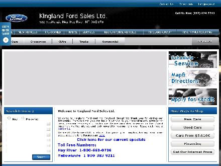 Kingland Ford Sales Ltd (867-874-7700) - Website thumbnail - http://www.kinglandford.com