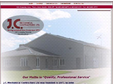 J C Mechanical Contractors Ltd (902-893-8972) - Onglet de site Web - http://www.jcmechanicalcontractors.com