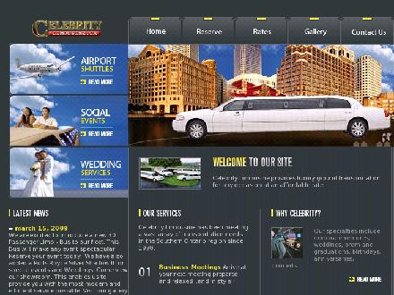 Celebrity Limousine (905-389-5466) - Website thumbnail - http://www.celebritylimousine.ca