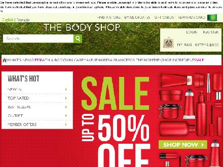 The Body Shop - Edmonton (780-481-1945) - Onglet de site Web - http://www.thebodyshop.ca
