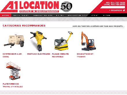 A1 Location d'outils (514-737-7666) - Website thumbnail - http://www.a1rentatool.ca