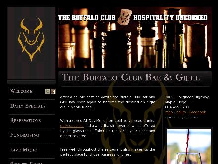 Buffalo Club Bar & Grill (604-465-3799) - Website thumbnail - http://www.buffaloclub.ca