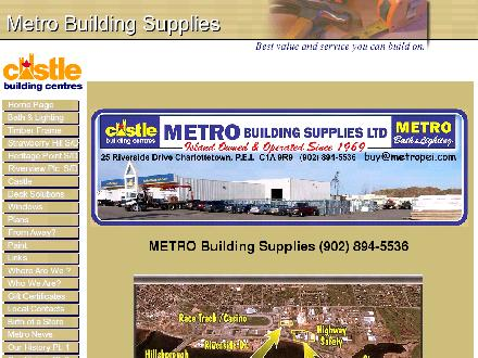 Metro Building Supplies Ltd (902-894-5536) - Website thumbnail - http://www.metropei.com