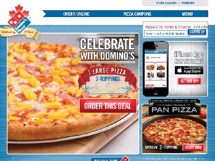 Domino's Pizza (416-636-3888) - Onglet de site Web - http://www.dominos.ca