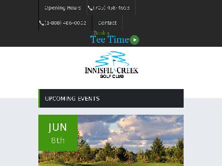 Innisfil Creek Golf Club (1-888-486-0002) - Onglet de site Web - http://www.innisfilcreekgolf.com