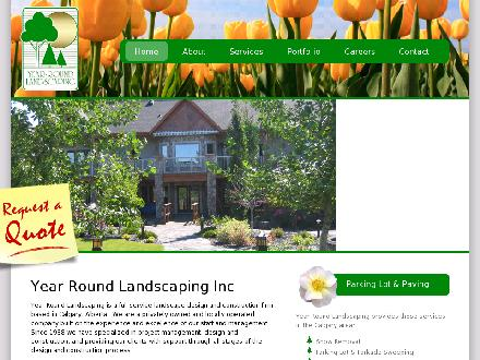 Year Round Landscaping (403-236-1948) - Website thumbnail - http://www.yearroundlandscaping.com