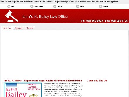 Bailey Ian W H (902-566-2093) - Onglet de site Web - http://ianbaileylaw.com/