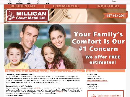 Milligan Sheet Metal Ltd (867-633-2901) - Website thumbnail - http://milligansheetmetal.ca