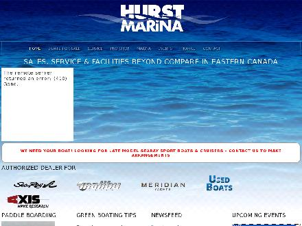 Hurst Marina (613-692-1234) - Website thumbnail - http://www.hurstmarina.com