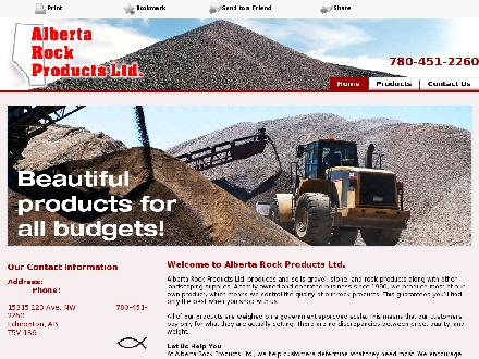 Alberta Rock Products Ltd (780-967-4463) - Onglet de site Web - http://www.albertarockproducts.net