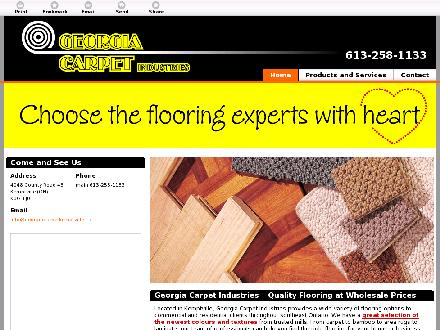 Georgia Carpet Industries (613-258-1133) - Website thumbnail - http://georgiacarpetkemptville.ca