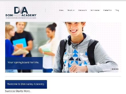 Don Valley Academy (416-223-6284) - Onglet de site Web - http://www.donvalleyacademy.com