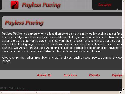 Pay Less Paving Ltd (604-322-0637) - Onglet de site Web - http://www.paylesspaving.com