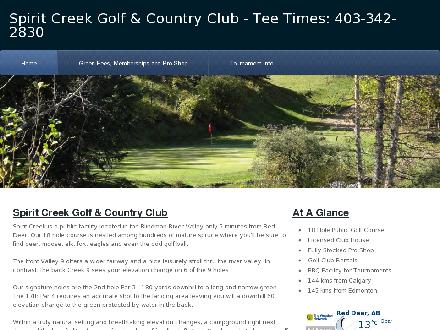 Spirit Creek Golf & Country Club (403-342-2830) - Website thumbnail - http://www.reddeergolf.com