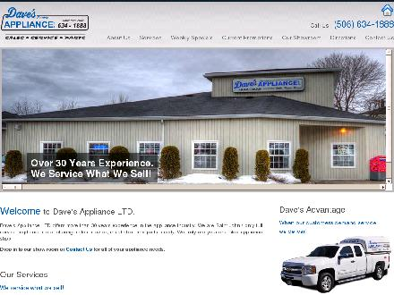 Dave's Electric Appliance (506-634-1888) - Onglet de site Web - http://www.davesappliance.ca