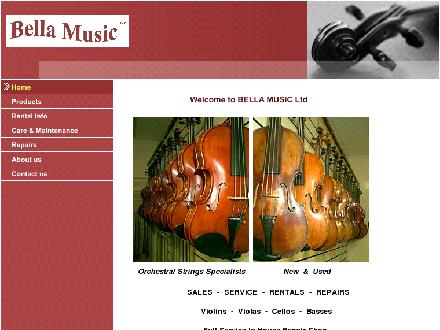 Bella Music Ltd (780-988-2352) - Website thumbnail - http://www.bellamusic.ca