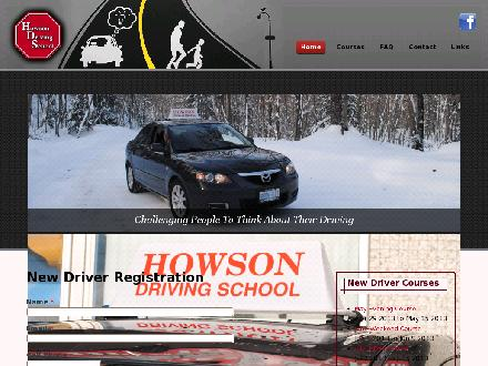 Howson Driving School (705-942-1370) - Website thumbnail - http://www.howsondrivingschool.com