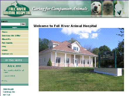 Fall River Animal Hospital (1-888-383-3049) - Website thumbnail - http://fallriveranimalhospital.ca
