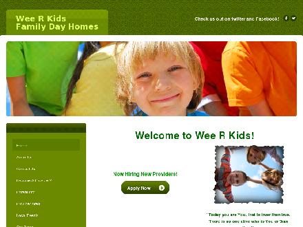 Wee R Kids Family Day Homes (403-320-5711) - Onglet de site Web - http://www.weerkids.net