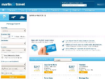 Marlin Travel (289-275-0077) - Onglet de site Web - http://www.marlintravel.ca