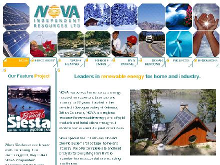 Nova Independent Resources Ltd (1-877-661-8479) - Website thumbnail - http://www.renewables.net