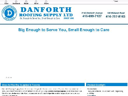 Danforth Roofing Supply Ltd (416-699-7127) - Website thumbnail - http://danforthroofingsupply.com/