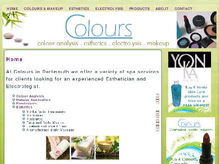 Colours Esthetics and Electrolysis (902-464-9015) - Onglet de site Web - http://www.coloursdartmouth.com