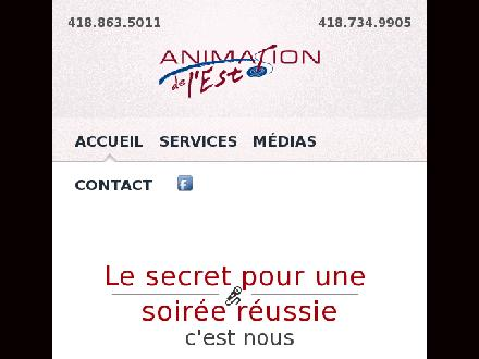 Animation De L'Est Enr (418-863-5011) - Website thumbnail - http://www.animationdelest.com