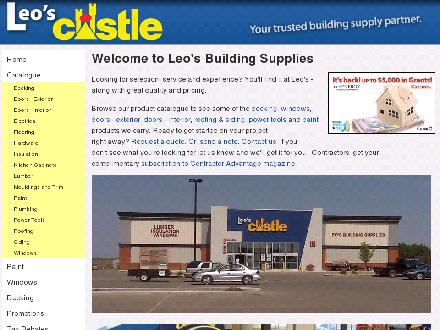 Leo's Building Supplies Ltd (403-556-8723) - Website thumbnail - http://www.leoscastle.com