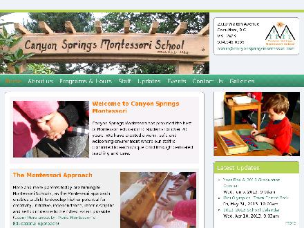 Canyon Springs Montessori Preschool (604-945-0566) - Onglet de site Web - http://www.canyonspringsmontessori.com