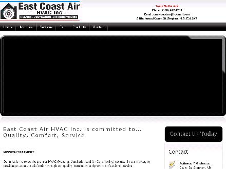 East Coast Air HVAC Inc. (506-467-1231) - Website thumbnail - http://www.eastcoastair.ca