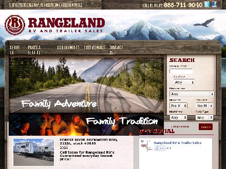 Rangeland RV &amp; Trailer Sales (403-279-5200) - Onglet de site Web - http://www.rangelandrv.com