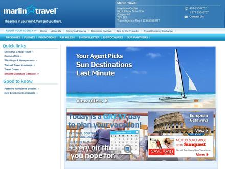 Marlin Travel (403-255-6707) - Onglet de site Web - http://www.marlintravel.ca/1428