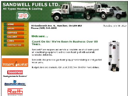 Sandwell Fuels Limited (905-544-6648) - Onglet de site Web - http://www.sandwellfuels.ca