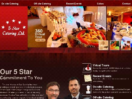 5 Star Catering Ltd (604-574-0411) - Onglet de site Web - http://www.5starcatering.com