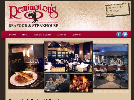 Remington's Seafood & Steakhouse (204-571-3838) - Onglet de site Web - http://www.dineremingtons.com