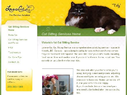 Love-A-Cat Pet Sitting Service (250-383-1309) - Onglet de site Web - http://www.loveacat.ca
