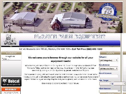 McGavin Farm Equipment (1-877-887-6365) - Website thumbnail - http://www.mcgavinequip.com