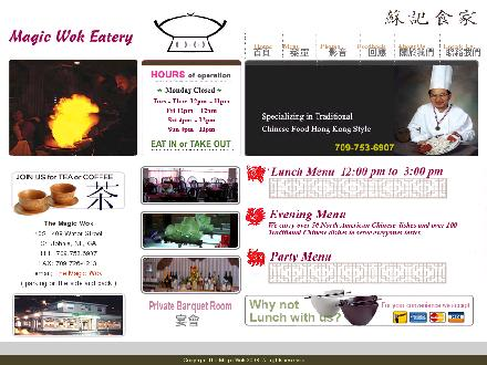 Magic Wok Eatery (709-753-6907) - Onglet de site Web - http://www.magicwok.ca