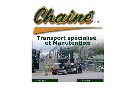Transport Chain&eacute; Inc (819-538-8328) - Onglet de site Web - http://www.transportchaine.com